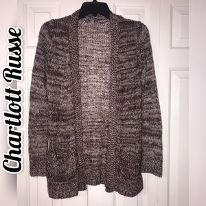 CHARLOTTE RUSSE HEATHER BURGUNDY CARDIGAN  🍂🍁